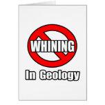 Ningún gimoteo en la geología tarjetón