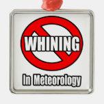 Ningún gimoteo en meteorología ornamento de navidad