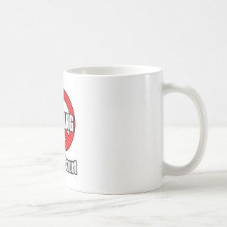 Ningún gimoteo en mi corte taza básica blanca