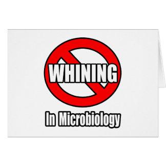 Ningún gimoteo en microbiología felicitacion