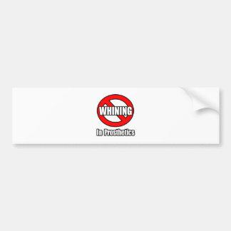 Ningún gimoteo en odontología etiqueta de parachoque