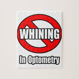 Ningún gimoteo en optometría puzzles