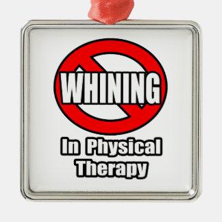 Ningún gimoteo en terapia física adorno de navidad