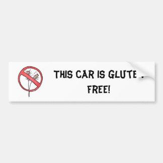 ¡Ningún gluten/trigo libera! Pegatina De Parachoque