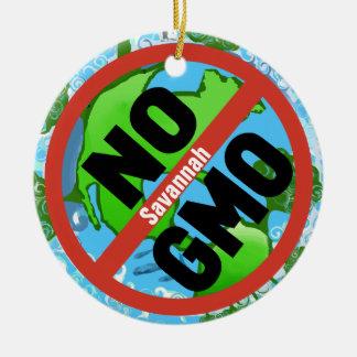 NINGÚN GMO ADORNO NAVIDEÑO REDONDO DE CERÁMICA