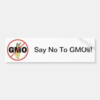 Ningún GMO Etiqueta De Parachoque