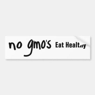 Ningún GMO come blanco sano de la promoción Pegatina Para Auto
