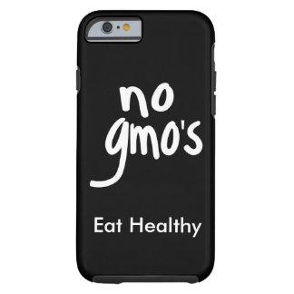 """Ningún GMO come la promoción blanca negra sana Funda De iPhone 6 Tough"