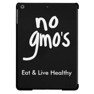 """""""Ningún GMO come la promoción blanca negra sana Funda Para iPad Air"""
