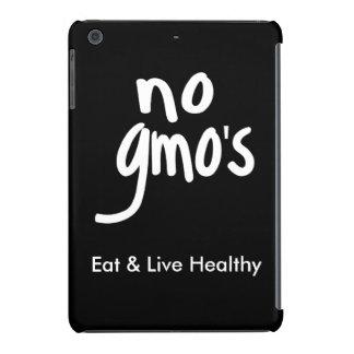 """Ningún GMO come la promoción blanca negra sana Funda Para iPad Mini Retina"