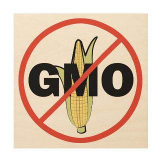 Ningún GMO - en blanco Cuadros De Madera