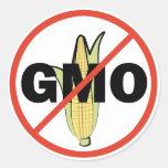 Ningún GMO Etiquetas Redondas