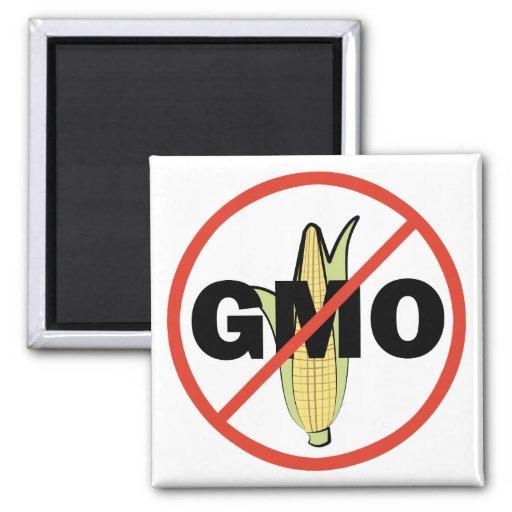 Ningún GMO Imán Cuadrado