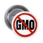 Ningún GMO, no GMO, marzo contra Monsanto Pin Redondo De 2 Pulgadas