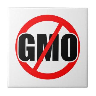 NINGÚN GMO - orgánico/mansanto/activismo/protesta/ Azulejo Ceramica