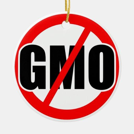 NINGÚN GMO - orgánico/mansanto/activismo/protesta/ Ornamente De Reyes