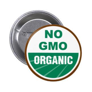 Ningún GMO orgánico Pin Redondo De 2 Pulgadas