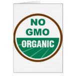 Ningún GMO orgánico Tarjetón