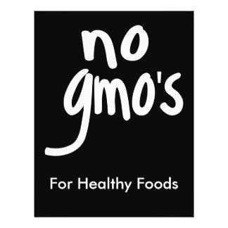 Ningún GMO para el negro promocional de la comida Tarjetas Publicitarias