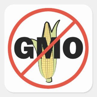 Ningún GMO Calcomania Cuadradas Personalizada