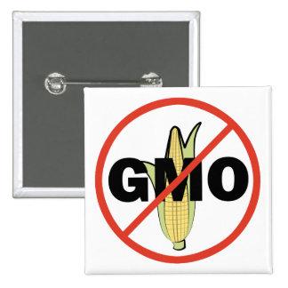 Ningún GMO Pin Cuadrado