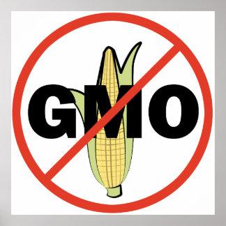 Ningún GMO Póster