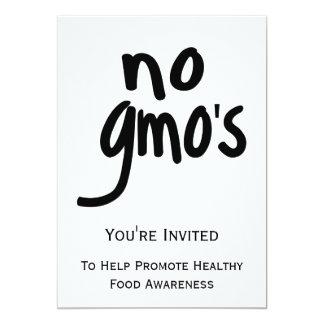 Ningún GMO promueve el etiquetar de la invitación