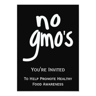 """Ningún GMO promueve el etiquetar de leyes Invitación 5"""" X 7"""""""