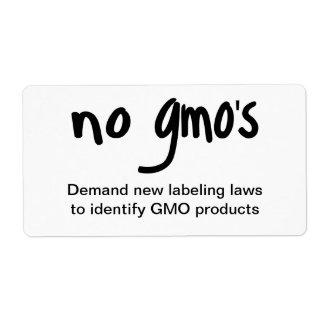 Ningún GMO promueve el etiquetar del pegatina del Etiquetas De Envío