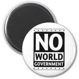 Ningún gobierno #1 del mundo imán redondo 5 cm