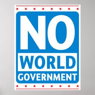 Ningún gobierno #1 del mundo póster