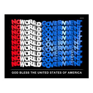 Ningún gobierno del mundo tarjeta postal