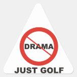 Ningún golf del drama apenas pegatina triangular