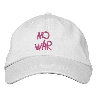 Ningún gorra de la guerra para su familia entera gorra de béisbol bordada