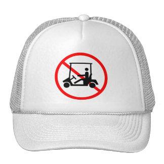 Ningún gorra de la muestra de los carros de golf