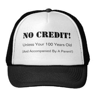 Ningún gorra del crédito