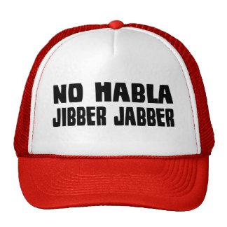 Ningún gorra del Jabber de Habla Jibber