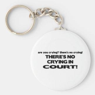 Ningún griterío ante el tribunal llavero