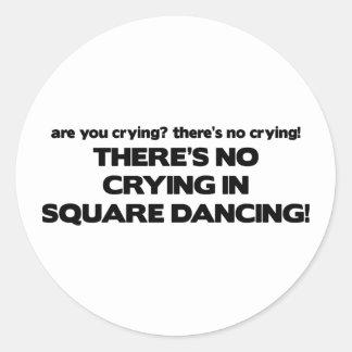Ningún griterío - baile cuadrado pegatina redonda