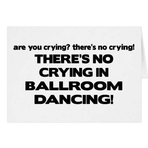 Ningún griterío - baile de salón de baile felicitacion