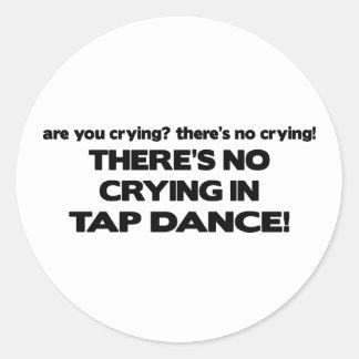 Ningún griterío - danza de golpecito pegatina redonda