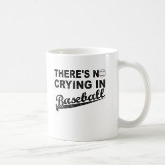 Ningún griterío en béisbol taza básica blanca