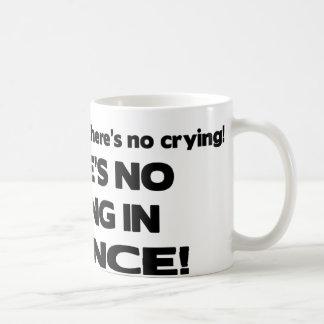 Ningún griterío en ciencia tazas de café