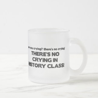 Ningún griterío en clase de historia taza de cristal