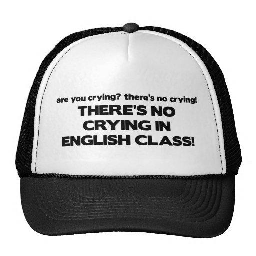 Ningún griterío en clase de inglés gorras de camionero