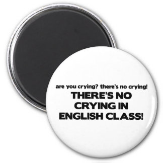 Ningún griterío en clase de inglés imán redondo 5 cm