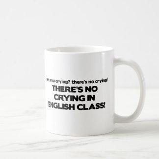 Ningún griterío en clase de inglés taza de café