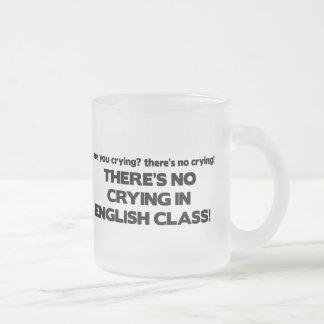 Ningún griterío en clase de inglés taza de café esmerilada