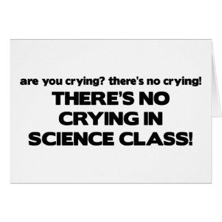 Ningún griterío en clase de la ciencia tarjeta de felicitación