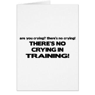 Ningún griterío en el entrenamiento tarjeta de felicitación